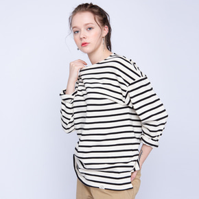 Stripe Boat Neck T-shirt남녀공용